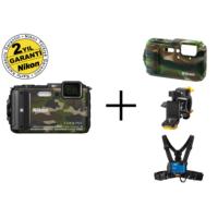 Nikon Aw130 (Camo) Outdoor Kit Dijital Fotoğraf Makinesi