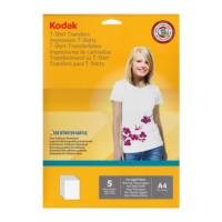 Kodak T-Shirt Transfer Baskı Kağıdı A4 Beyaz Zemin 5 Sayfa