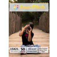 Smart Photo 15X21 Parlak (Glossy) 290 Gr/m² 50 Adet/1Paket Profesyonel Fotoğraf Kağıdı