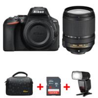 Nikon D5600 18-140mm DSLR Fotoğraf Makinesi + TTL Flaş + Çanta + 16 GB SD Hafıza Kartı