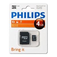 Philips 4GB Class 4 Micro SDHC Hafıza Kartı + Adaptör FM04MA35P