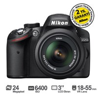 "Nikon D3200 18-55mm VR Kit 24 MP 3"" LCD Dijital SLR Fotoğraf Makinesi"