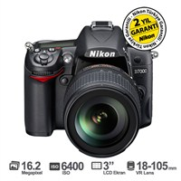 "Nikon D7000 18-105mm VR KIT 16.2 MP 3"" LCD Dijital SLR Fotograf Makinesi"