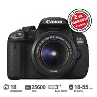 "Canon EOS 650D 18-55MM IS II 18MP 3.0"" LCD SLR Fotoğraf Makinesi ( Dokunmatik Ekran )"