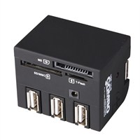 Volk 56 in 1 Combo Card Reader + 3 Port Usb Hub (ML-CE19B)