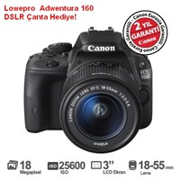 Canon Eos 100D 18-55mm DC Kit 18 MP Dijital SLR Fotoğraf Makinesi