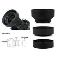 Canon 18-55Mm Lens İçin 3 Kademeli Ayarlanabilir Kauçuk Parasoley