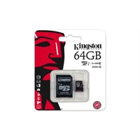 Kingston 64GB MicroSDHC Class10 UHS-I 45MB/s Hafıza Kartı SDC10G2/64GB