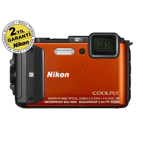 Nikon Coolpix AW130 Sualtı Dijital Fotoğraf Makinesi Turuncu