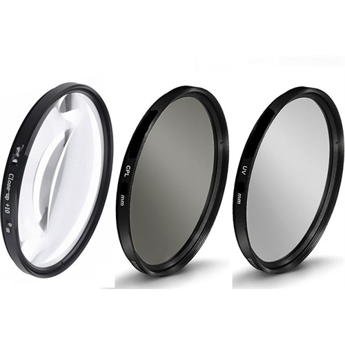 Beta Nikon 18-55Mm Lens İçin Uv + Cpl Polarize + Close Up +10 Macro Filtre