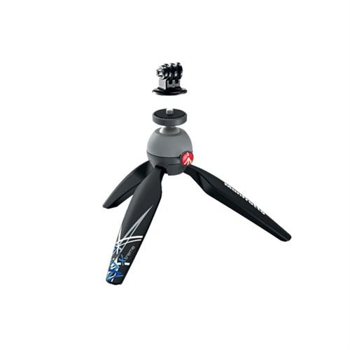 Manfrotto MKPIXIEX-BK Mini Tripod + GoPro Adaptör