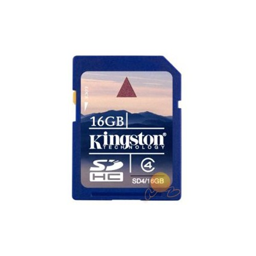 Kingston 16 GB Class 4 SDHC Hafıza Kartı SD4/16GB