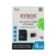 Syrox 4 Gb Micro Sd Card Hafıza Kartı Adaptörlü