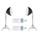 Fancier Sürekli Işık Seti 150W 60 Cm Octagon - İkili Set