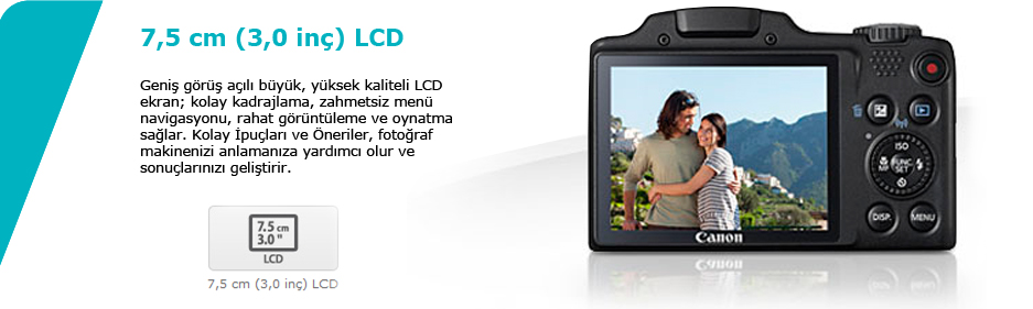 Canon PowerShot SX510HS 121 MP 30X Optik Zoom 30 LCD Fiyati