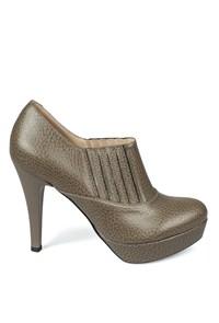 Matraş Kadın Deri Topuklu Ayakkabı Yeşil