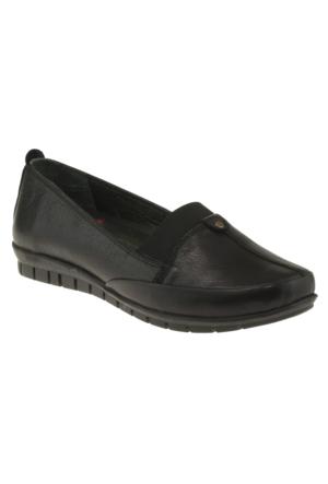 Kawest 620Y643 Tek Zimbali Siyah Kadın Ayakkabı