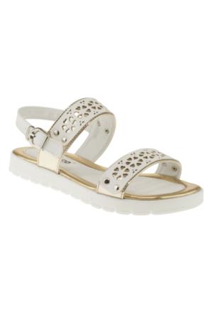 Vicco 921U659 Cift Bantli Altın Çocuk Sandalet