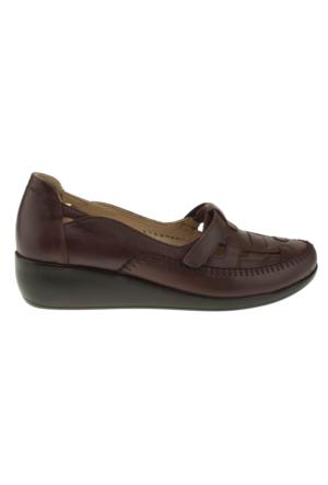 Kawest 620Y641 Tek Cirt Bordo Kadın Ayakkabı