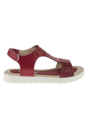 Vicco 921U657 Delikli Bant Kırmızı Çocuk Sandalet