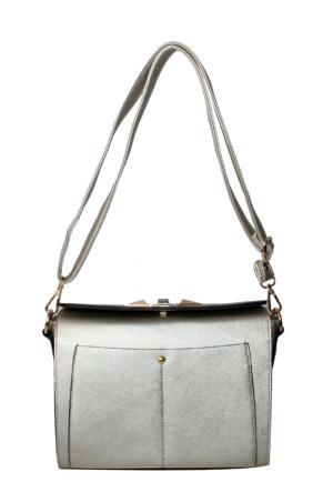 Nas Çanta Gümüş Omuz Askılı Bayan Çanta-602