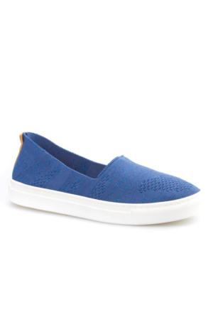 Cabani Bağcıksız Sneaker Kadın Ayakkabı Mavi