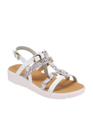 Polaris 61.308630.Z Beyaz Kadın Sandalet