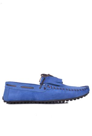 Kalahari 350002 039 828 Erkek Mavi Süet Yazlık Ayakkabı