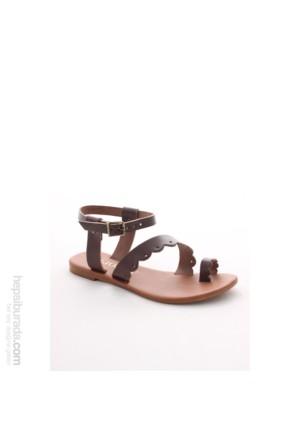Gio&Mi Kahverengi Sandalet Hs-16