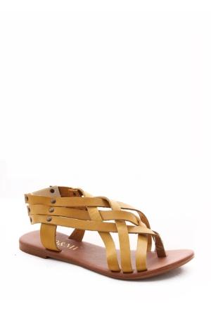 Gio&Mi Sarı Sandalet V8b