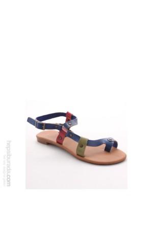 Gio&Mi Renkli Sandalet V10-768
