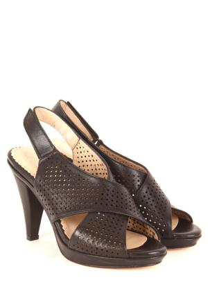 Gön Deri Kadın Sandalet 25994