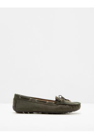 Koton Kadın Fiyonk Detaylı Ayakkabı Haki
