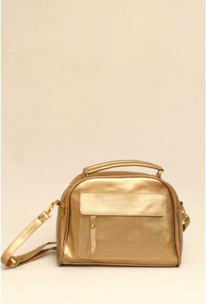 Ytş Çanta Altın Bayan El Çantası-194