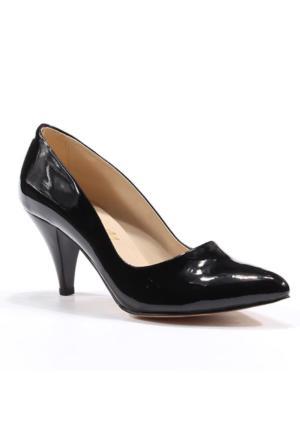 Asm Abiye Stiletto Rugan Topuklu Bayan Ayakkabı