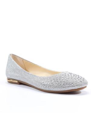 Asm Abiye Gelin Simli Taşlı Kadın Babet Ayakkabı