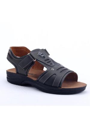 Gezer 07874 Günlük Cırtlı Hafif Yumaşak Rahat Taban Erkek Sandalet