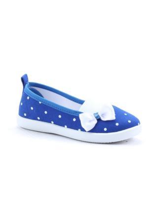 Gezer 2119 Günlük Kız Çocuk Keten Lastikli Babet Ayakkabı