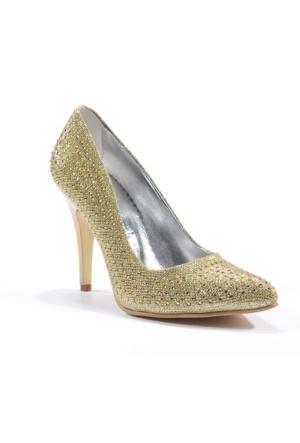 Park Moda Sivri Burun Taşlı Topuklu Bayan Ayakkabı
