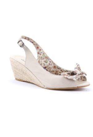 Polaris 3491 Günlük Ortopedik 6Cm Topuklu Kadın Sandalet