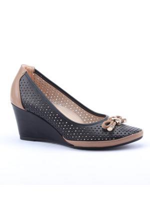 Lodos 2754 Günlük Lazer Kesim Dolgu Topuk Kadın Ayakkabı