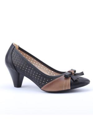 Lodos 2752 Günlük Lazer Kesim Fındık Kadın Topuklu Ayakkabı