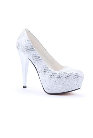 Cemre 4000 12,5Cm Topuklu Gizli Platform Kadın Abiye Ayakkabı