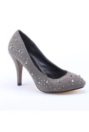Max Style 1800 Abiye Klasik Topuk 9,5Cm Taşlı Kadın Ayakkabı