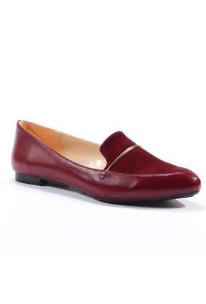 Oc Shoes Günlük Gold Kadın Babet Ayakkabı
