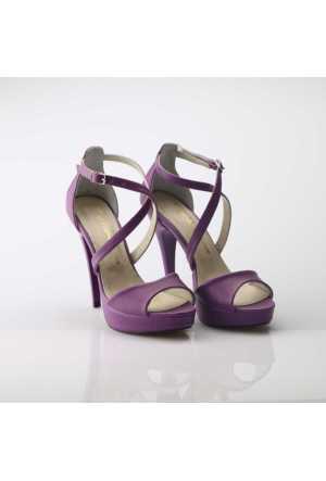 Modabuymus Mor Platform Topuklu Ayakkabı