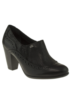 Venus 70363 Fermuarli Siyah Kadın Ayakkabı