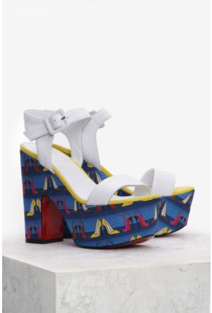 İlvi Faccia 9896 Sandalet Beyaz Multi