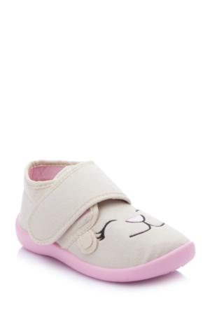 Defacto Kız Çocuk Bej Ev Ayakkabısı