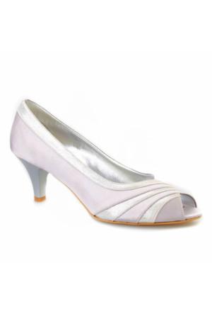 Cabani Abiye Kadın Ayakkabı Gri Croco Deri